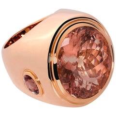Colleen B. Rosenblat Morganite Sapphire Rose Gold Cocktail Ring