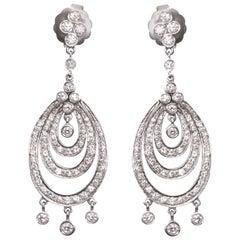 1990s Kwiat Diamond Gold Chandelier Earrings