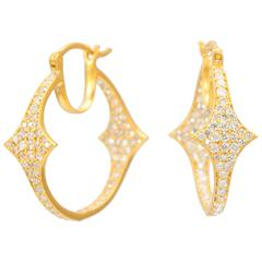 Lauren Harper 1.72 Carat Diamond, Gold Hoops