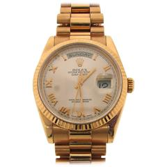 Rolex Rose Gold Oyster Perpetual Day-Date Wristwatch