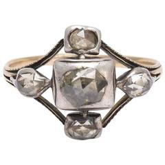 Georgian Rose Cut Diamond Cruciform Ring