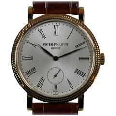 Patek Philippe Yellow Gold Calatrava Manual Wind Wristwatch