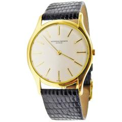 Vacheron Constantin Yellow Gold Ultra-Thin Mechanical Wristwatch
