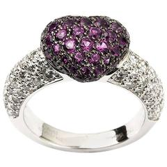Chopard Amethyst Diamond White Gold Ring