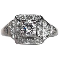 .42 Carat Diamond Platinum Engagement Ring