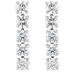 Forevermark Round Brilliant Five Diamond Drop Earrings