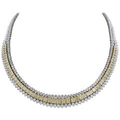 Fancy Yellow Diamond and White Diamond Necklace