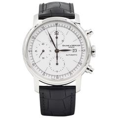 Baume & Mercier Stainless Steel Chronograph Automatic Mechanical Wristwatch