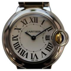 Cartier Ballon Bleu Stainless Steel 18 Karat Yellow Gold Wristwatch