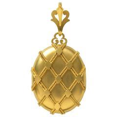 Antique Victorian Oversized Gold Locket