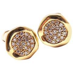 Tiffany & Co. Diamond Yellow Gold Earrings