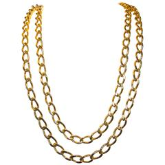 Long Gold Chain Necklace and Bracelet