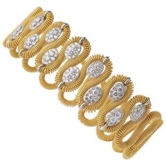 Marchisio Diamond and Gold Bracelet