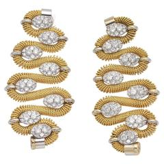 Marchisio Diamond and Gold Earrings