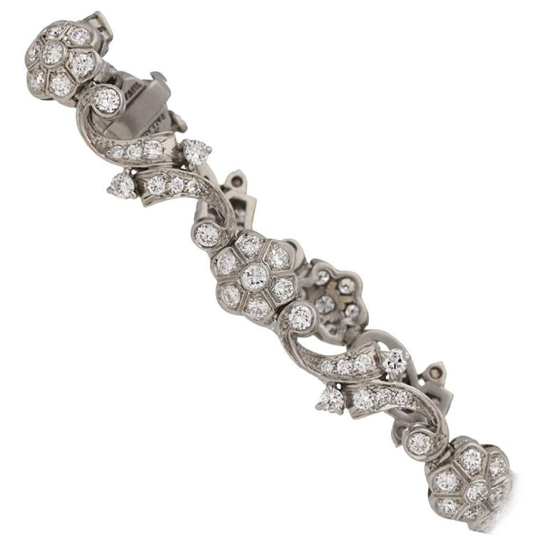 Tiffany & Co. Diamond Bracelet American, circa 1940 1