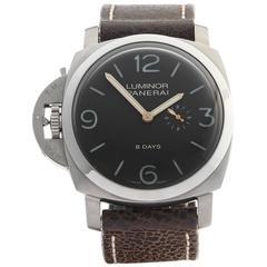 Panerai Luminor Titanium Mechanical Wristwatch Model PAM368