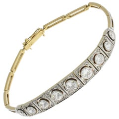 Art Deco Diamond Gold Bracelet