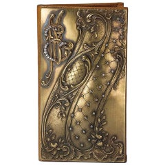 Diamond Gold Leather Card Wallet
