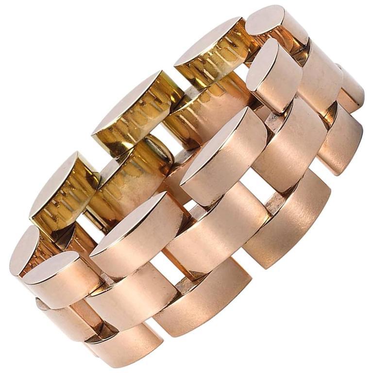 1940s Rose Gold Bracelet