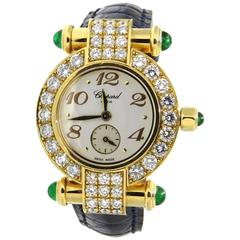 Chopard LadiesYellow Gold Diamond Emerald Imperiale Quartz Wristwatch