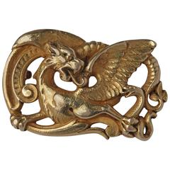 Wièse Gothic Revival Dragon Brooch
