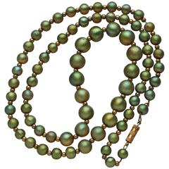 WMF Favrile Glass Beaded Necklace