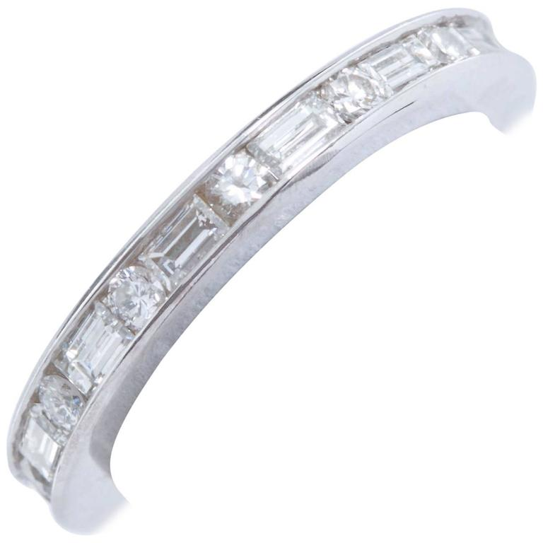 1.20 Carat Channel Set Diamond Eternity Band F-G Color
