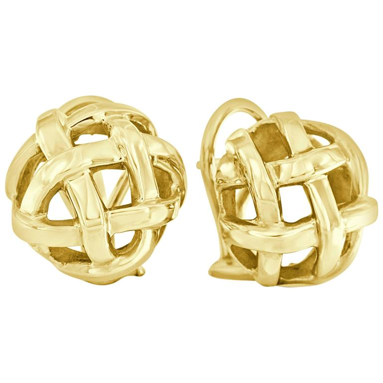 Angela Cummings Yellow Gold Earrings 1
