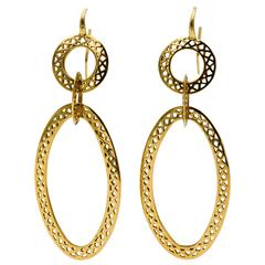 Ray Griffith Yellow Gold Gypsy Hoop Earrings