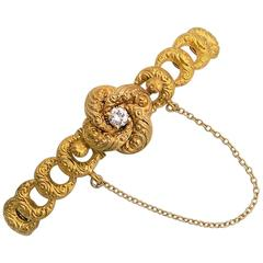 Antique Gold and Diamond Bracelet by Krementz