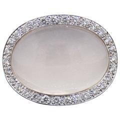 Van Cleef & Arpels  White Gold Moonstone Diamond Ring
