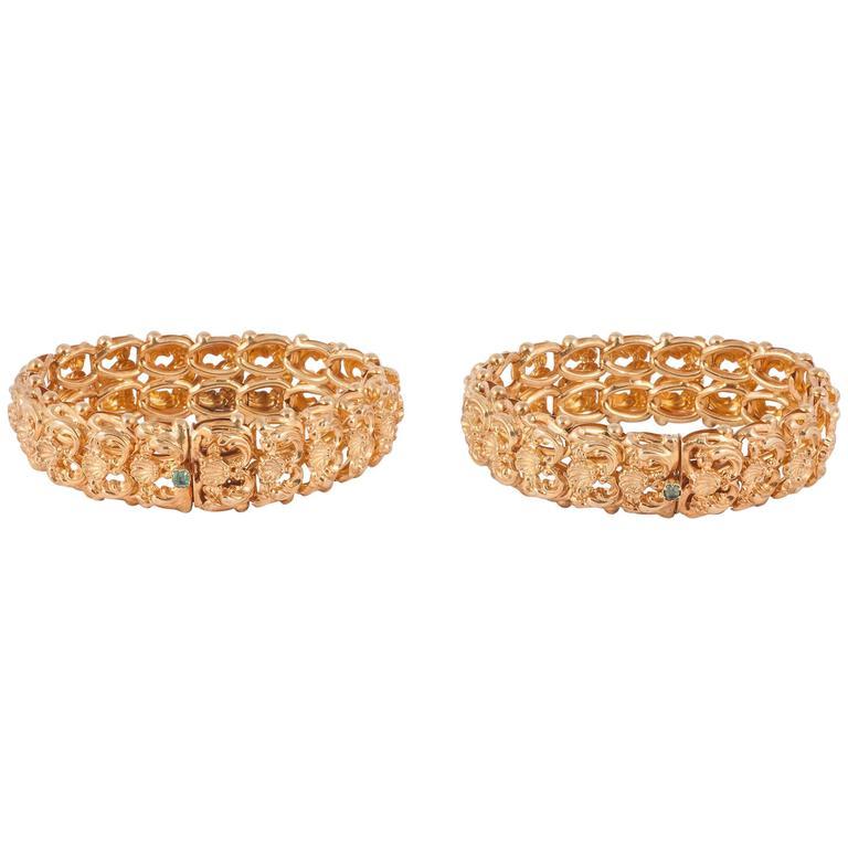 Antique Regency Gold Bracelets