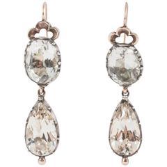 Foiled Rock Crystal Drop Earrings