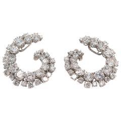 Harry Winston Diamond Platinum Spiral Earrings