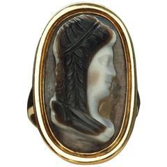 Georgian Sardonyx Cameo Ring