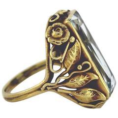 Edward Oakes Aquamarine Gold Ring
