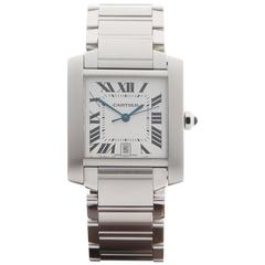 Cartier Ladies Stainless Steel Tank Francaise Automatic Wristwatch 2302