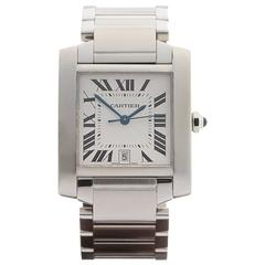 Cartier Stainless Steel Ladies Tank Francaise Automatic Wristwatch 2302
