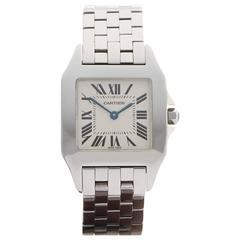Cartier Stainless Steel Ladies Santos Demoiselle Quartz Wristwatch 2701
