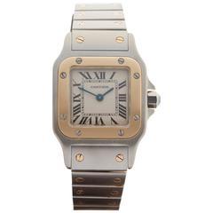 Cartier Ladies Yellow Gold Stainless Steel Santos Galbee Wristwatch Ref 1567