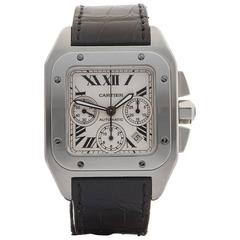 Cartier Stainless Steel Santos 100 Extra Large Chronograph Automatic Wristwatch