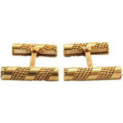 1960s Tiffany & Co. Gold Bar Cufflinks