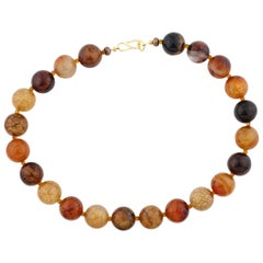 Gemjunky Exquisite Large African Spider Web Jasper and Citrine Necklace