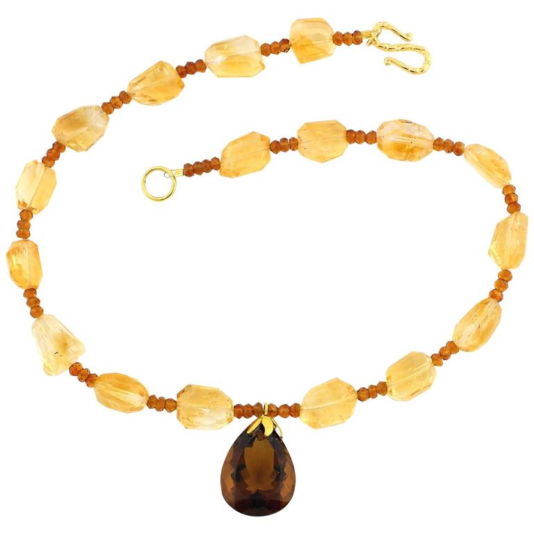 Citrines and Citrines and Citrine Necklace