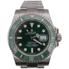Rolex Green Submariner Oyster Perpetual Wristwatch