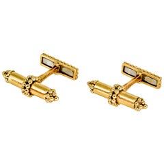 Tiffany & Co. Gold Articulated Bar Cufflinks