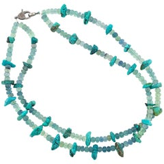 Gemjunky Royal Beauty Turquoise and Fluorite Necklace