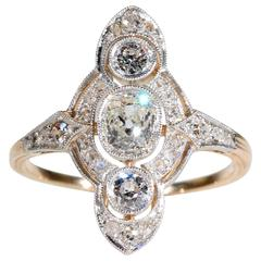 Edwardian Old European Cut Diamond Engagement Ring