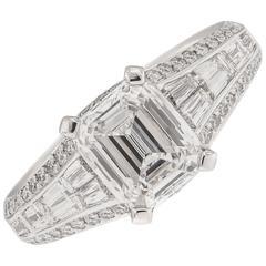 Christopher Designs Crisscut Diamond Platinum Engagement Ring