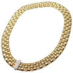 Roberto Coin Appassionata Diamond Ruby Three Row Yellow Gold Necklace